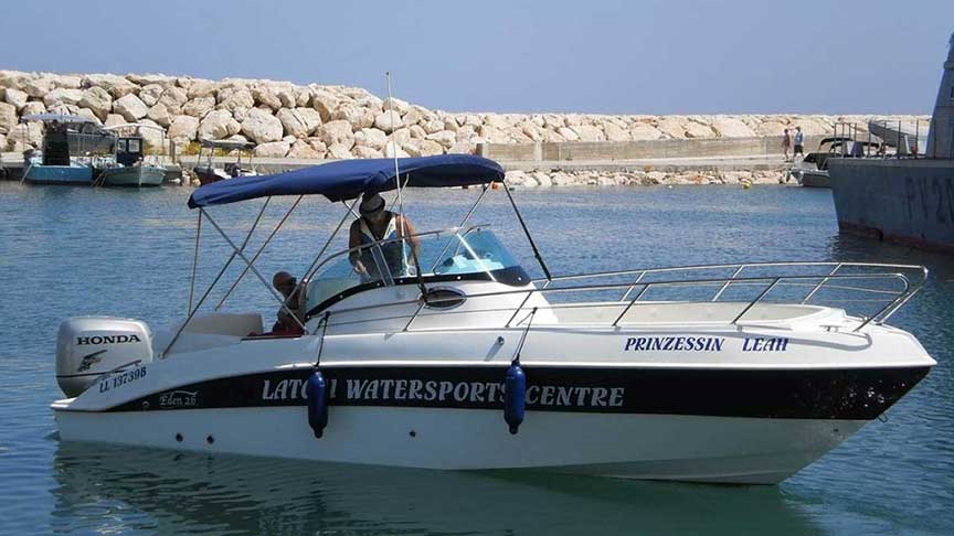 Self Drive Boat Hire with Latchi Watersports Centre, Latchi Harbour, Cyprus