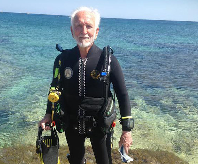 Ray Woolley at Latchi Dive Centre, Cyprus