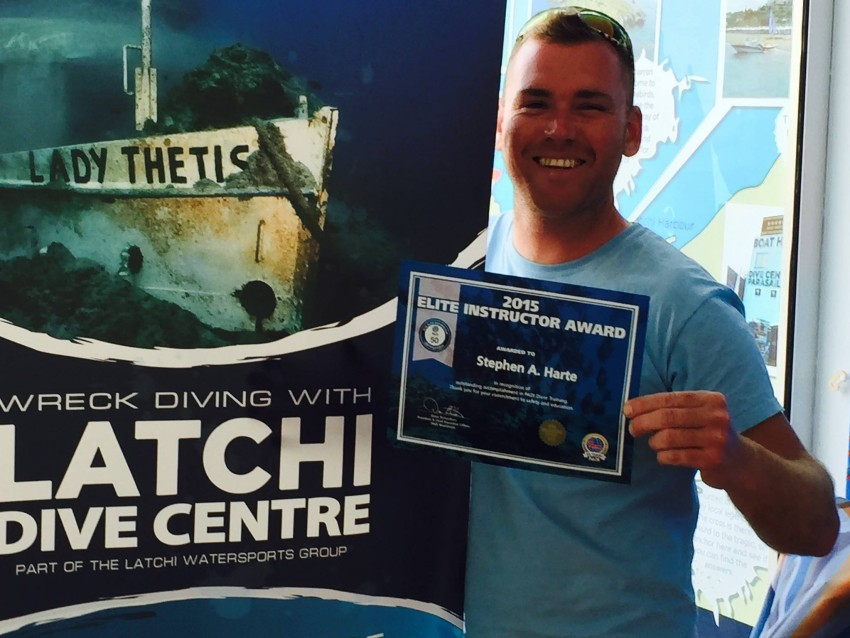 Steve Harte Elite Dive Instructor 2015, Latchi Dive Centre, Cyprus