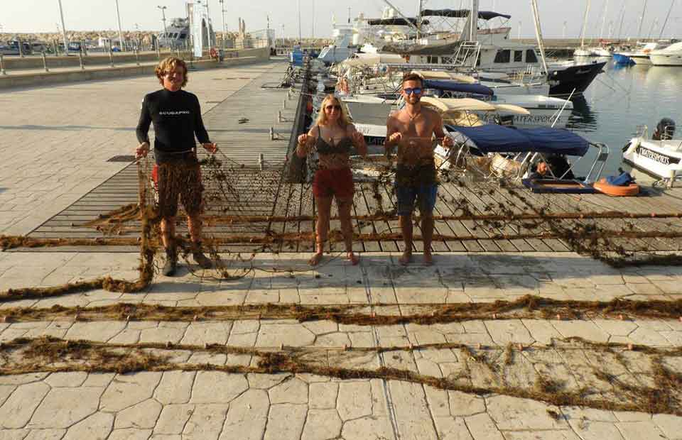 Fishing Net Removal from St. George's Island by Latchi Dive Centre