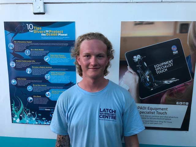 Divemaster Internship Callum O'Sullivan at Latchi Dive Centre, Cyprus