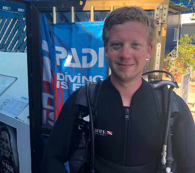 Latchi Dive Centre Intern - Jack Perry