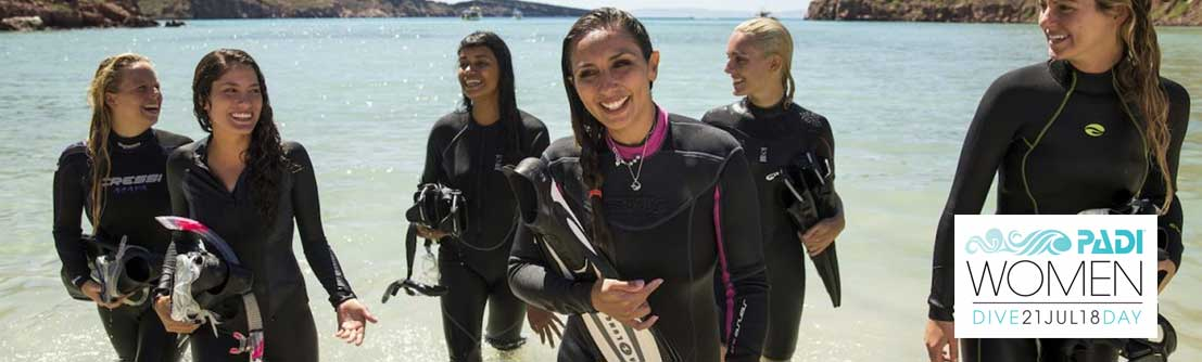 The fourth annual PADI Women's Dive Day is on Saturday, 21 July 2018. Take part and get up to 50% OFF