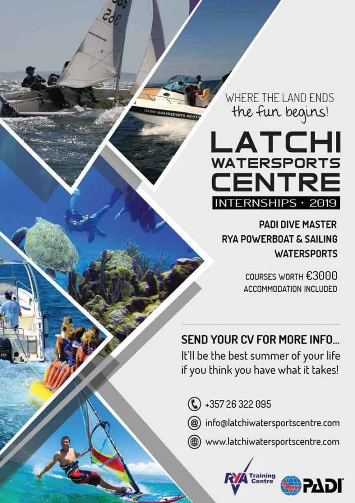 Summer Internship Programme 2019 Latchi Dive Centre, Cyprus